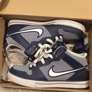 Nike blue and gray High tops like new